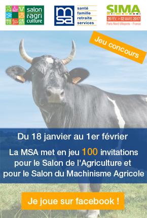 SIA/SIMA 2017 : Gagnez vos invitations avec la MSA !
